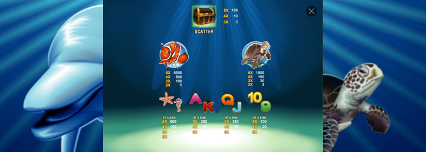 Dolphin Reef - paytable